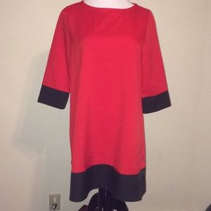 Red & black long sleeve dress from Shein